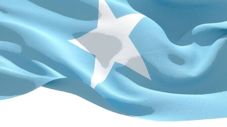 Federal Republic of Somalia waving national flag. 3D illustration