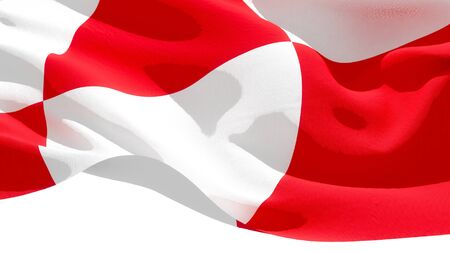 Greenland waving national flag. 3D illustration