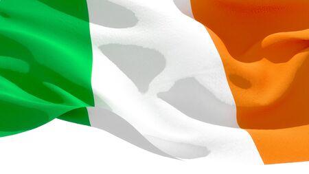 Irlande waving national flag. 3D illustration