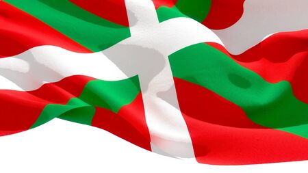 Basque Country waving national flag. 3D illustration