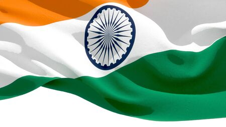 Republic of India waving national flag. 3D illustration