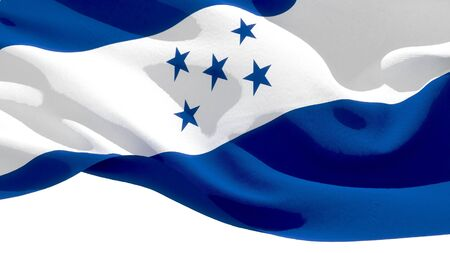 Republic of Honduras waving national flag. 3D illustration