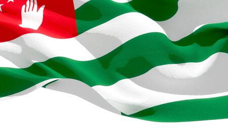 Republic of Abkhazia waving national flag. 3D illustration