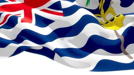 British Indian Ocean Territory waving national flag. 3D illustration