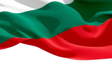 Republic of Bulgaria waving national flag. 3D illustration Stockfoto
