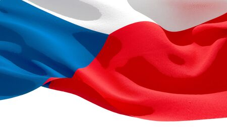 Czech Republic waving national flag. 3D illustration