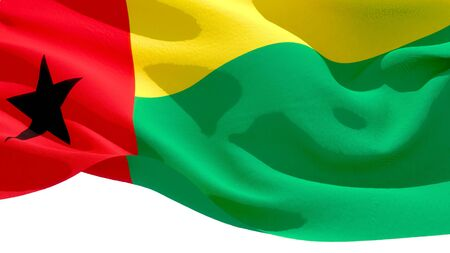 Republic of Guinea Bissau waving national flag. 3D illustration Stockfoto