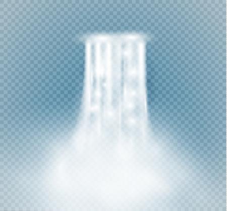 Cascada, aislada en la ilustración de background.vector transparente. Un chorro de agua