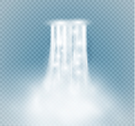 Waterfall, isolated on transparent background.vector illustration. A stream of water Illustration