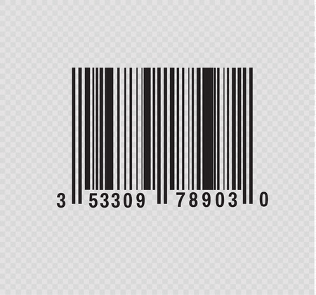 Realistic bar code icon. A modern simple flat barcode. Marketing, the concept of the Internet. Fashionable vector sign of a market trademark for website design, mobile application. Bar code .