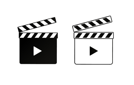 Realistic clapper.cinema.Board on a white background.film.time.vector illustration