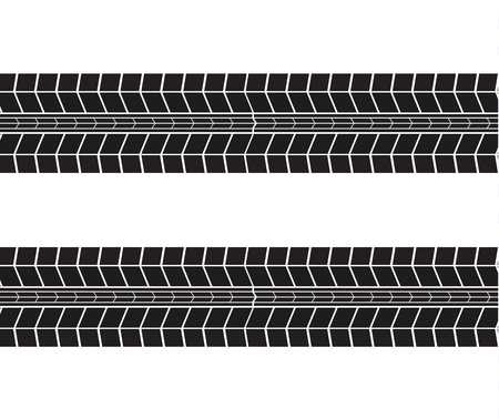 Tire tracks. Vector illustration on white background.