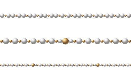 Hermosas perlas de varios colores. Las cuentas son realistas. Elemento decorativo ilustración vectorial Ilustración de vector