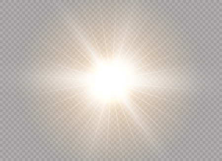 Glow light effect. Star burst with sparkles. Vector illustration.