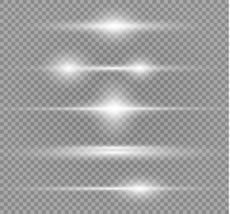 White glowing light burst explosion on transparent background. Vector illustration light effect decoration with ray. Bright star. Translucent shine sun, bright flare. Center vibrant flash. Vector Illustration