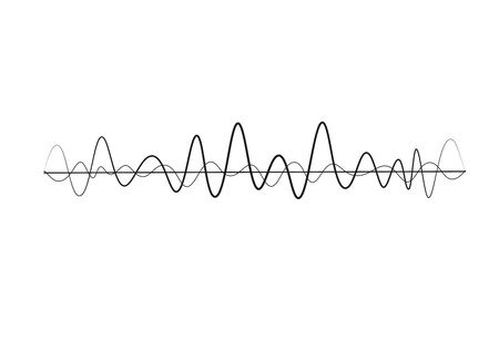 Equalizer of sound waves. Modern vector illustration. Abstract vector element for music design with equalizer. Dynamic line with dots.
