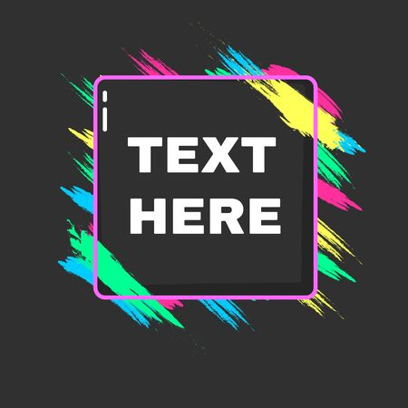 Vector banner on a black background. Beautiful colorful background for text and graphics. Design element for business cards,flyers and brochures.