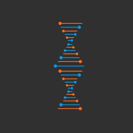DNA Icons set vector illustration. Polygonal DNA concept. Genetic sign, elements and icons collection. Thin line concept.