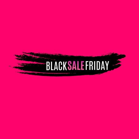 Black Friday Sale Abstract Background. Vector Banner. Poster or banner with open gift wrap paper and shopping icons concept. Banco de Imagens