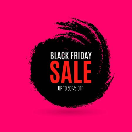 Black Friday Sale Abstract Background. Vector Banner. Poster or banner with open gift wrap paper and shopping icons concept. Stock fotó