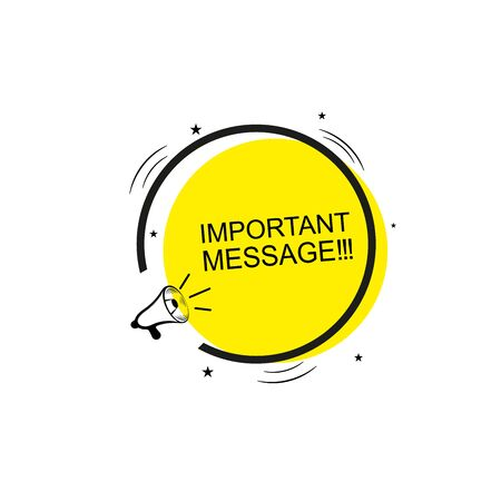 Megaphone banner with speech bubble of important announcement. Speaker. Banner for business, marketing and advertising. Vector illustration