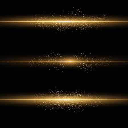 Sparkling magical dust particles. Yellow glowing light explodes on a transparent background. Transparent shining sun, bright flash. To center a bright flash. Bright Star. Vector sparkles.