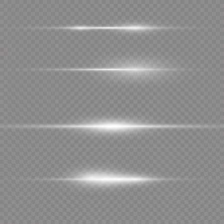 To center a bright flash. Transparent shining sun, bright flash. White glowing light explodes on a transparent background. Sparkling magical dust particles. Bright Star. Vector sparkles.