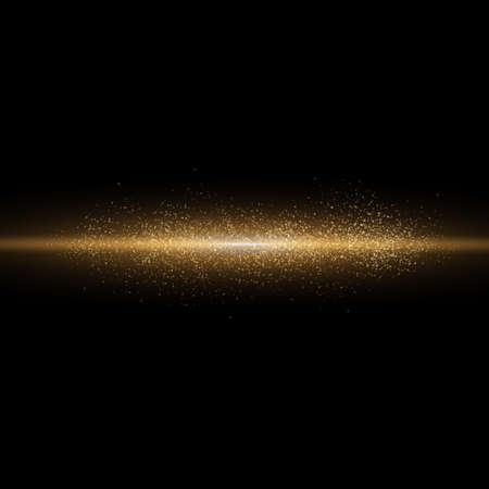 Sparkling magical dust particles. Yellow glowing light explodes on a transparent background. Transparent shining sun, bright flash. To center a bright flash. Bright Star. Vector sparkles. Illustration