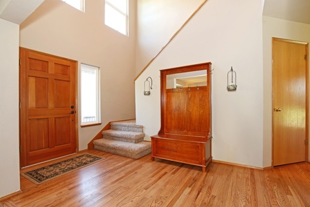 Beautiful ntrance with hardwood floor Stock Photo - 12320802