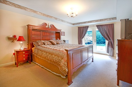 Master bedroom with large bed Stock Photo - 12313951