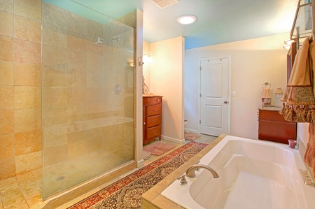 Glass hower and large bathroom Stock Photo - 12313852