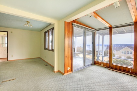Empty room in a fixer upper with a nice view Stock Photo - 12312906