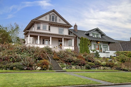 Victorian historical house with large covered porch Stock Photo - 12312860