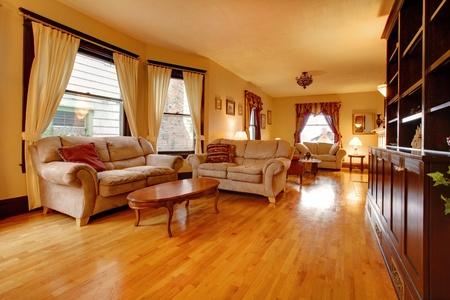 Luxury Gold Living Room Photo