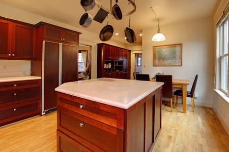 Beautiful kitchen with cherry wood Stock Photo - 12313166