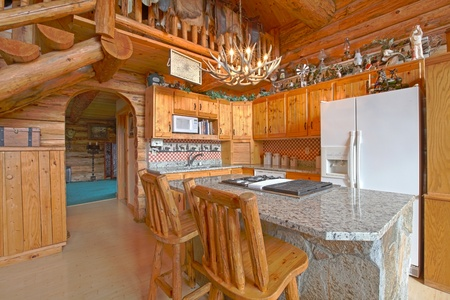 Unique rustic log cabin in Washingston State photo