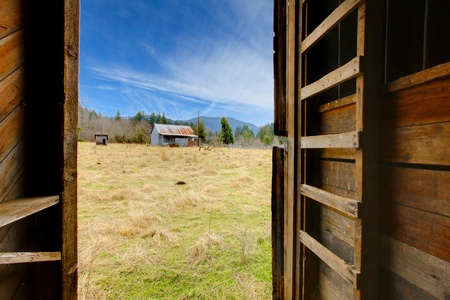 not open: Build in 1907 diary farm near Mt. Ranier in Washingston State