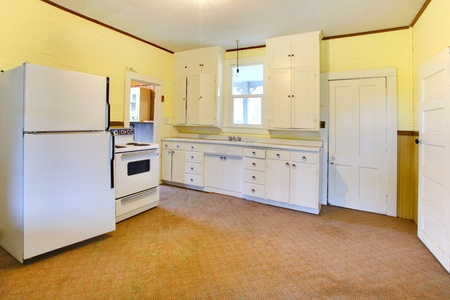 kitchen appliances: Build in 1907 old farm house in Ashford, Washington State near Mt. Ranier.