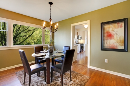 Fresh green dining room  photo
