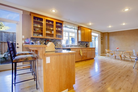 Nice large maple kitchen Stock Photo - 12312423
