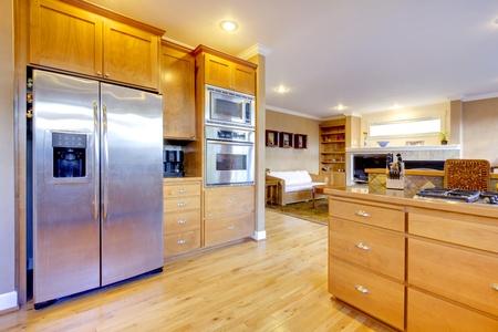 Nice kitchen with beautiful wood.  Stock Photo - 12312420