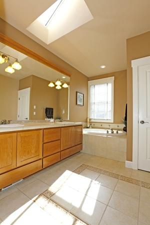 Classic American bathroom with sky light. Stock Photo - 12312466