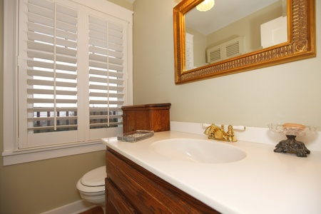 Bathroom with white sink. photo