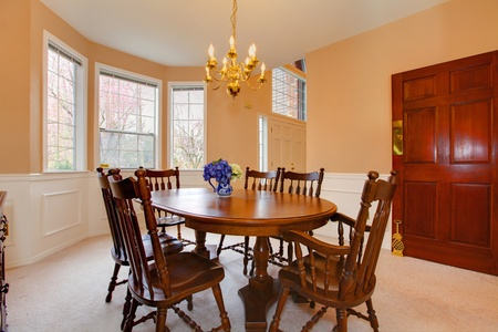 Dining room with classic brown furniture. Stock Photo - 12310478