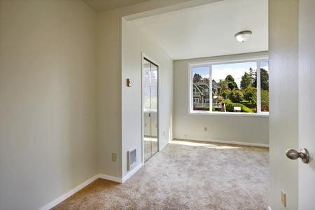 Empty white window with closet and window Stock Photo - 12312106
