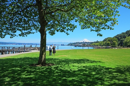 Tacoma, summer. Washington State. Public Park.  photo