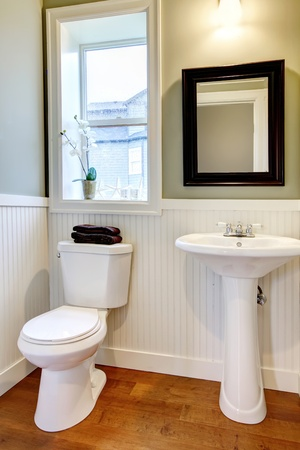 Nice small new simple and elegant bathroom  Archivio Fotografico