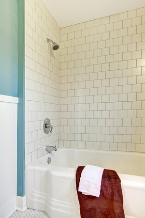 Details of the blue new bathroom design Stock Photo - 12621038