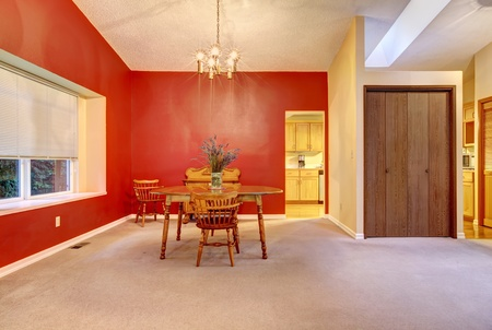 Large living room American simple house interior. 版權商用圖片 - 12621118