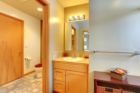 Nice large bathroom with simple classic design. Stock Photo - 12621231